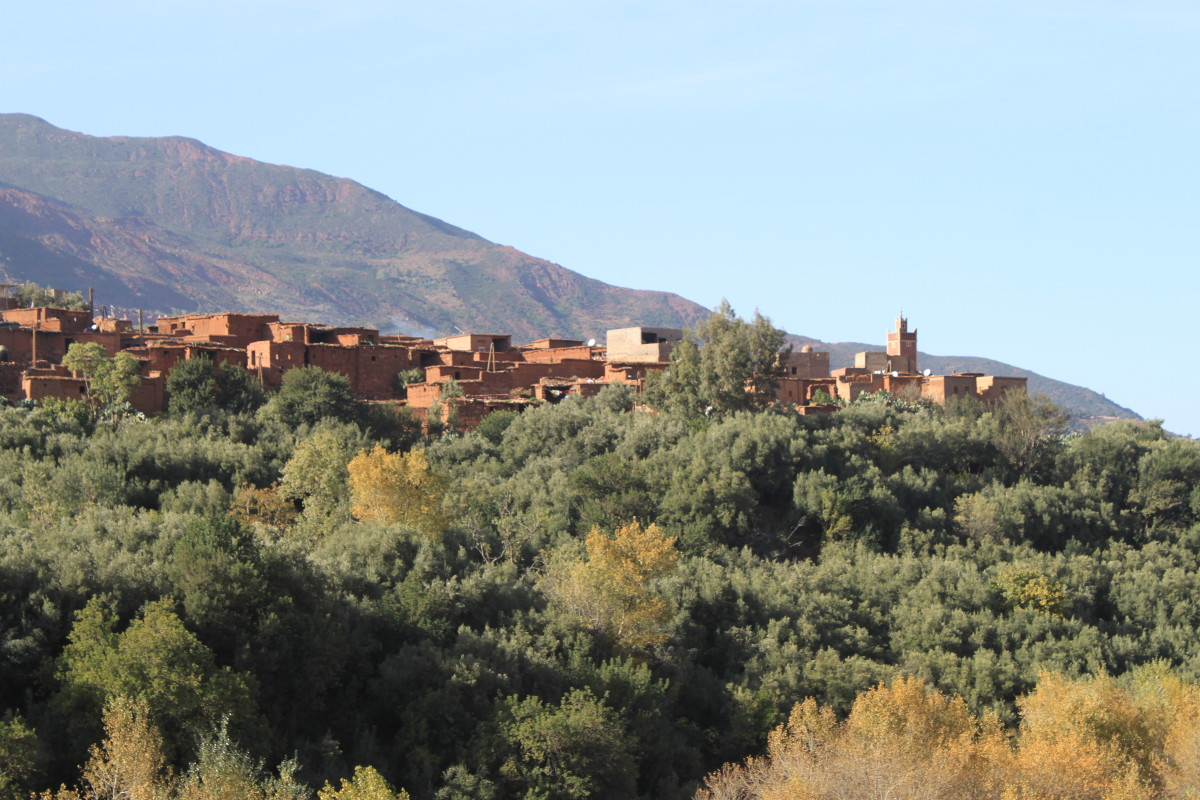Beautiful villages sit on top of the hillside in a manner seen in many movies.