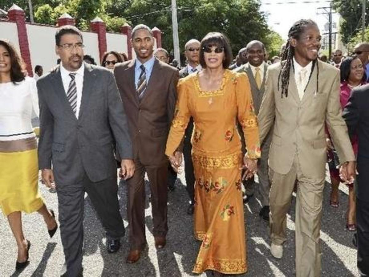 Portia Simpson-Miller served two terms as Prime Minister of Jamaica.