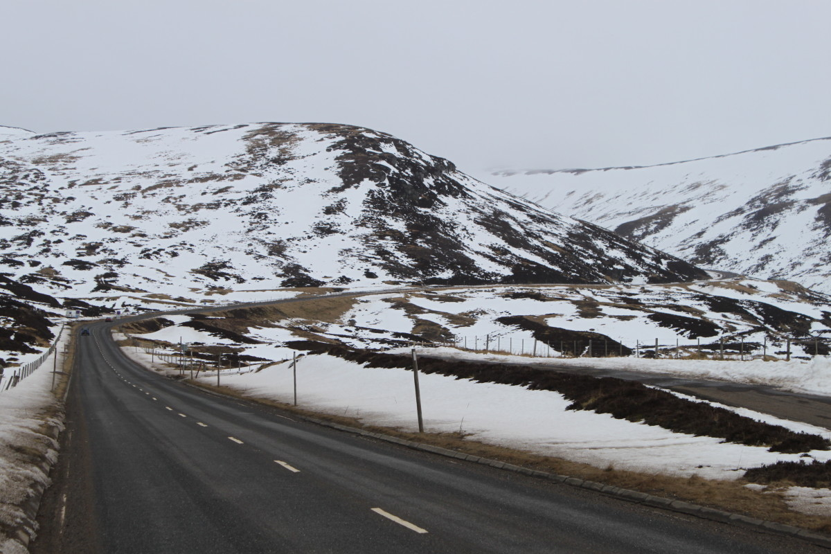 Part of the Cairnwell climb up to Glenshee Ski Area in the Cairngorm's. The climb from the Spittal Of Glenshee starts to become more challenging as the road turns right.