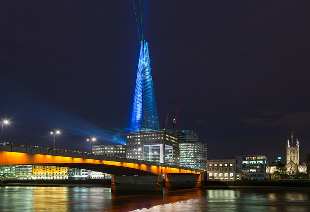 The inauguration of the Shard in May 2012