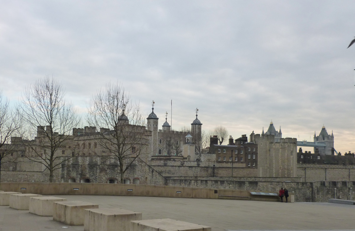 The Tower of London is also on the banks of the Thames