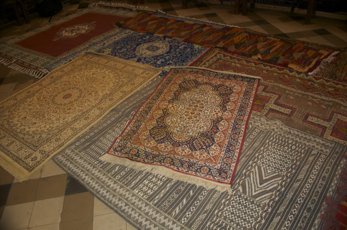 A selection of handmade carpets