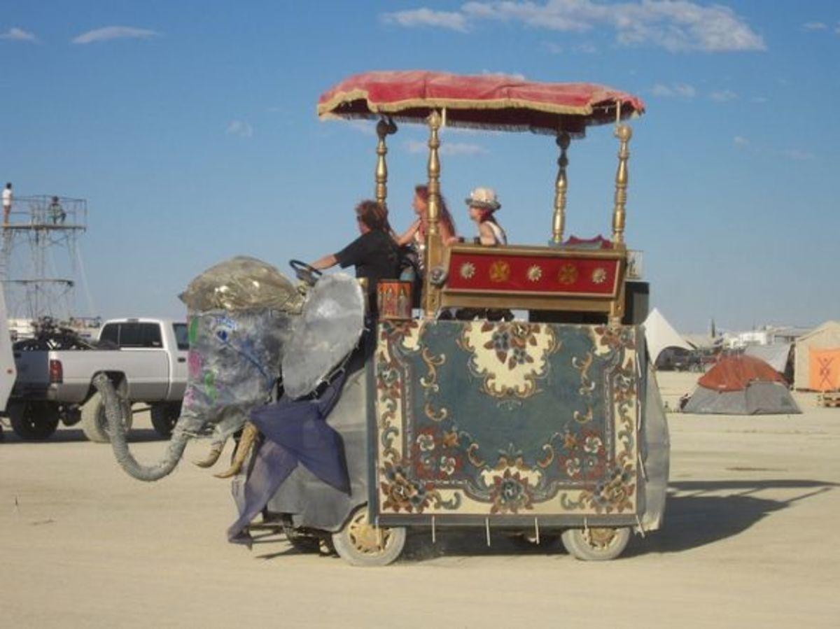 BM Elephant Caravan Artcar