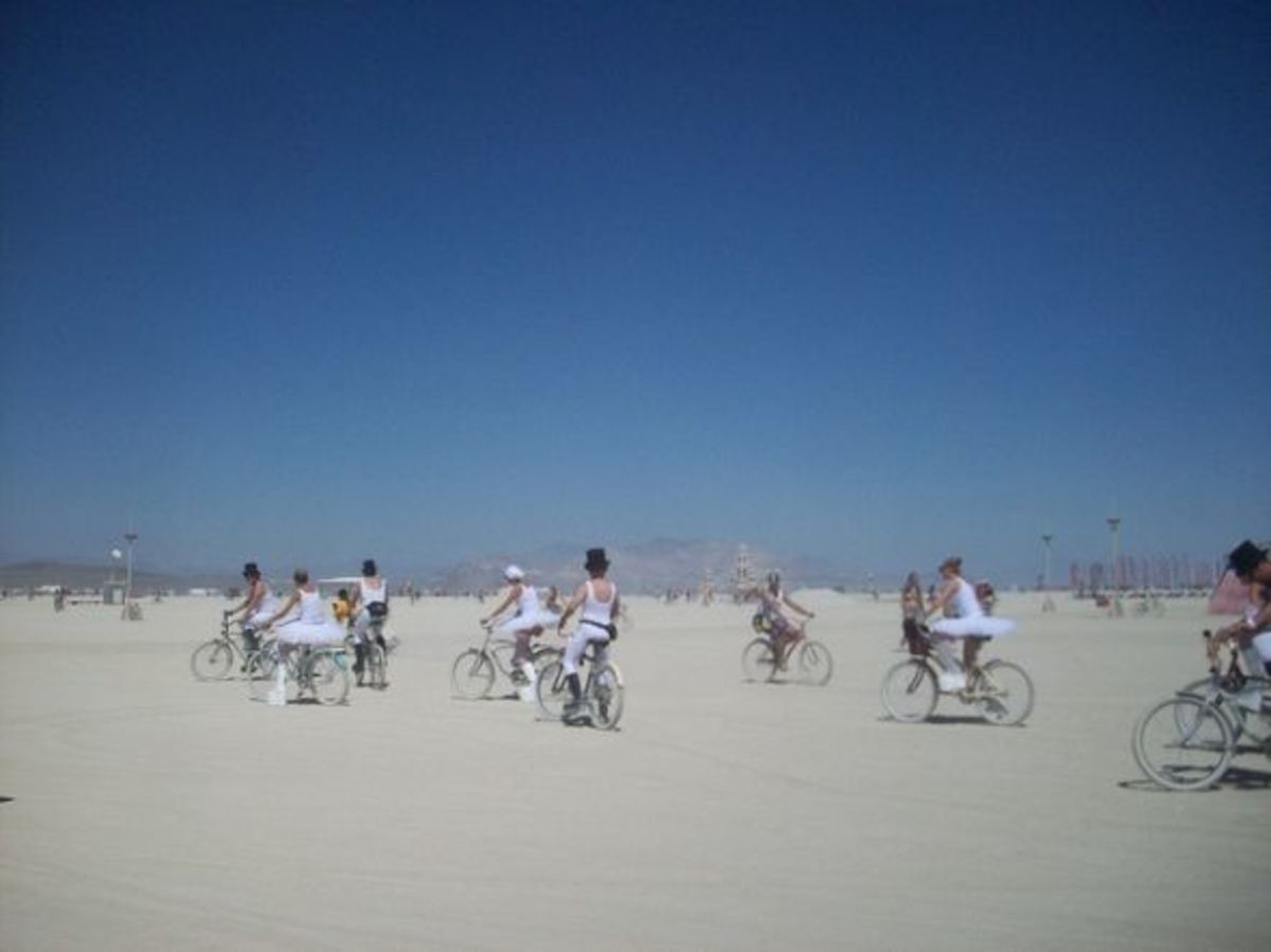 Ballet Performers on Bikes