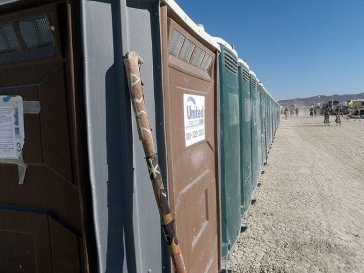 Burning Man Porta Potties