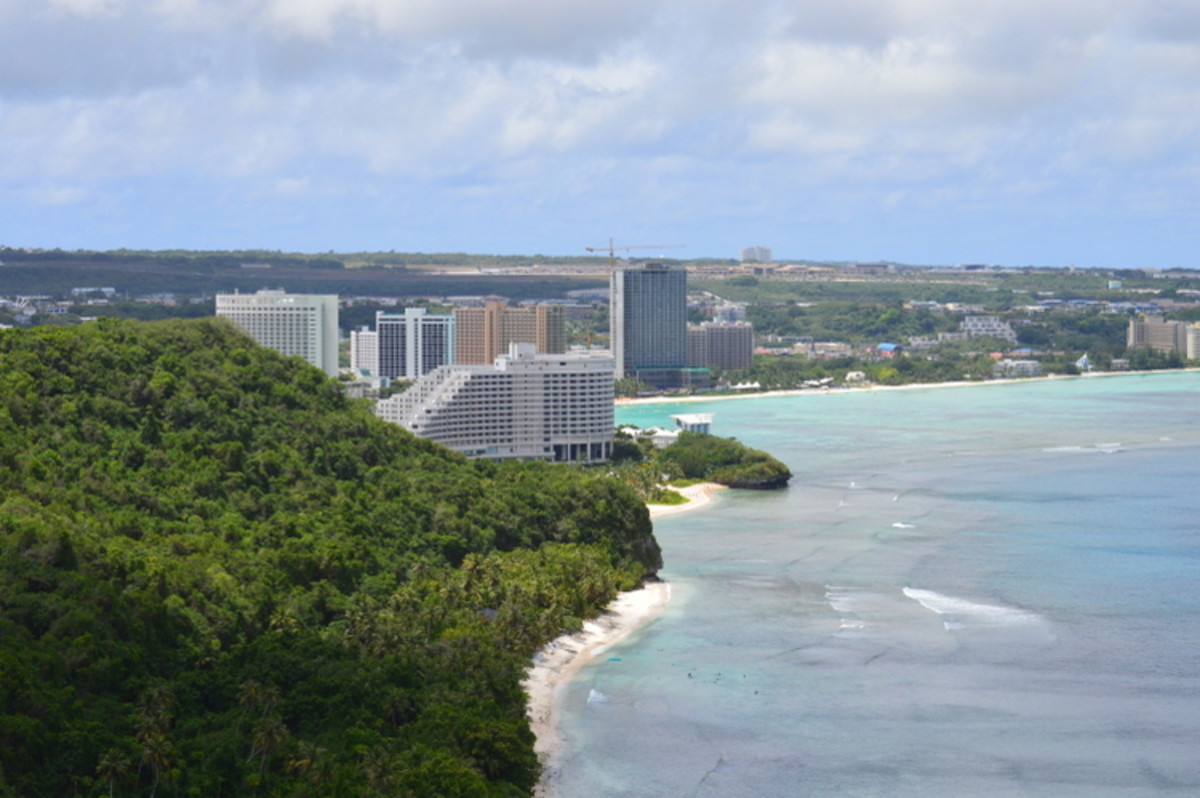 This it Tumon. If you leave the Tumon Bay/tourist area behind, you can find better prices.