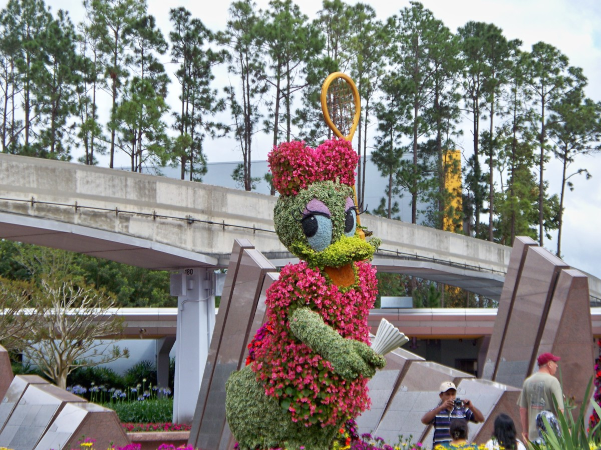 Daisy Duck - part of Epcot's International Flower and Garden Festival