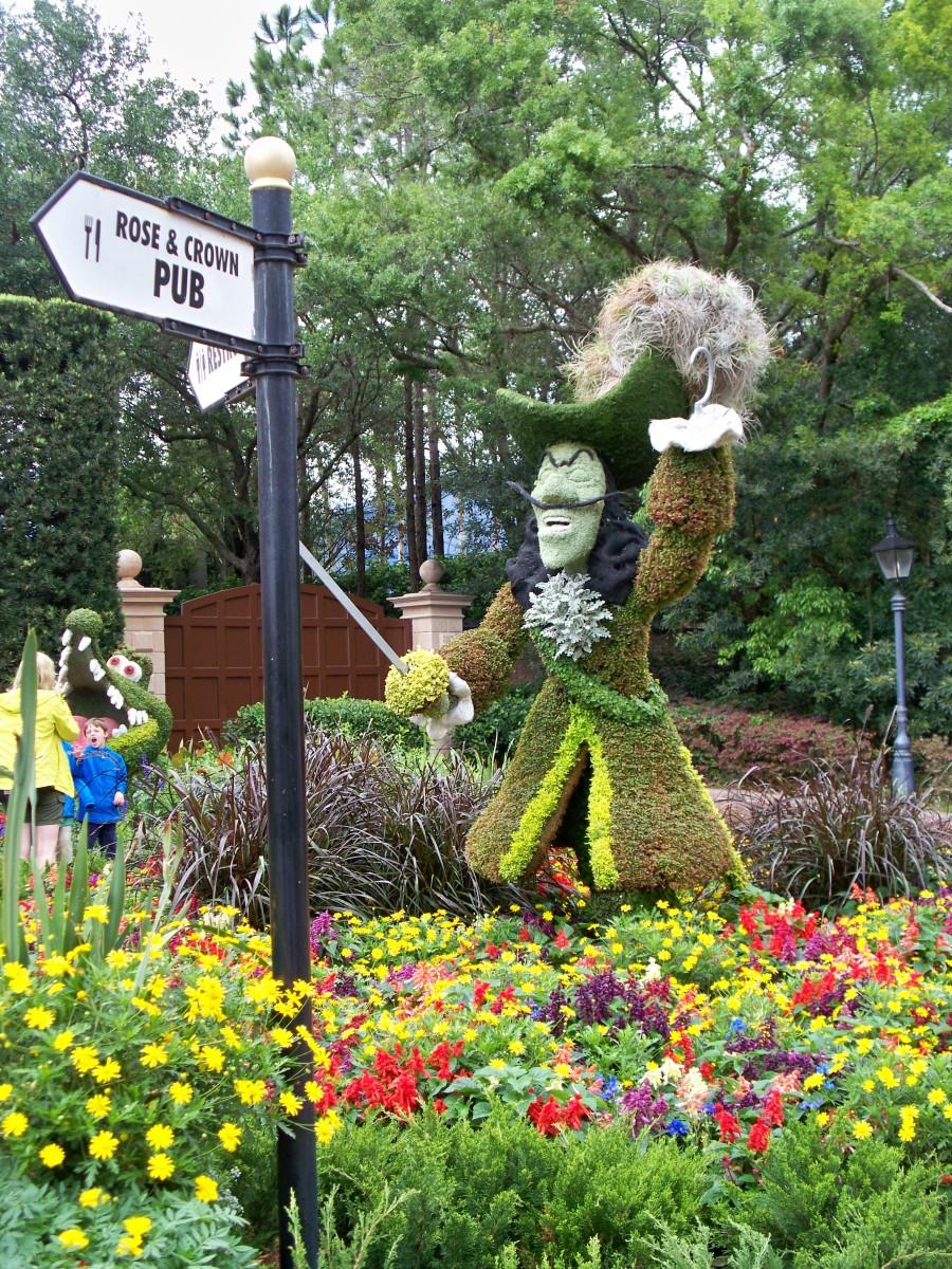 Captain Hook - part of Epcot's International Flower and Garden Festival