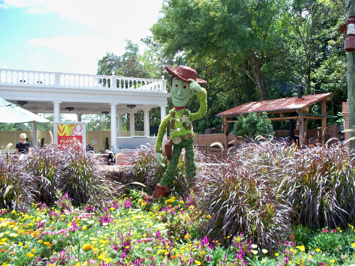 Woody - part of Epcot's International Flower and Garden Festival