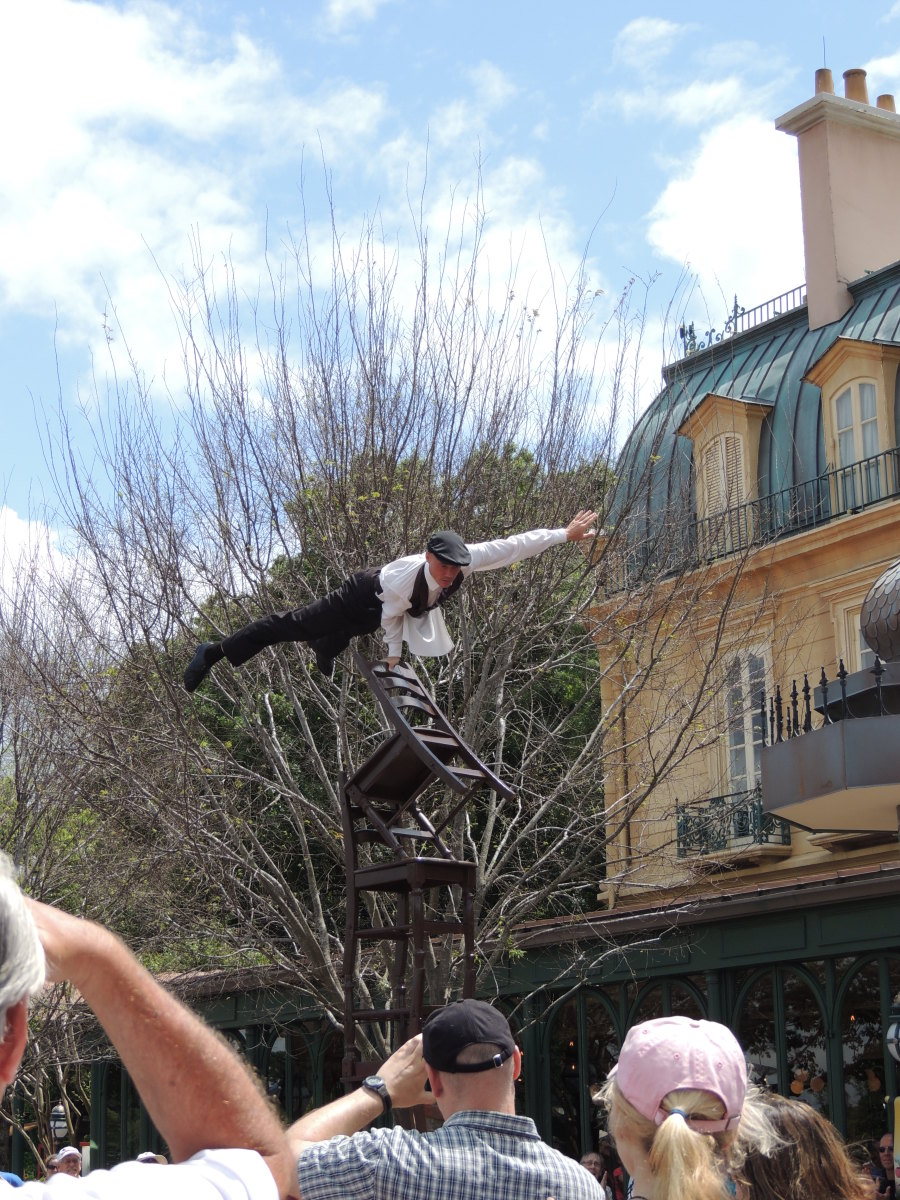 Epcot's World Showcase - Street show in the French area
