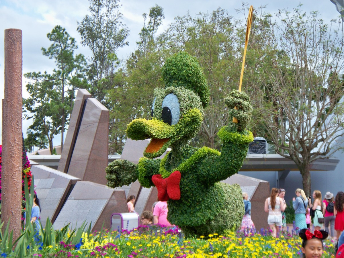 Donald Duck - part of Epcot's International Flower and Garden Festival