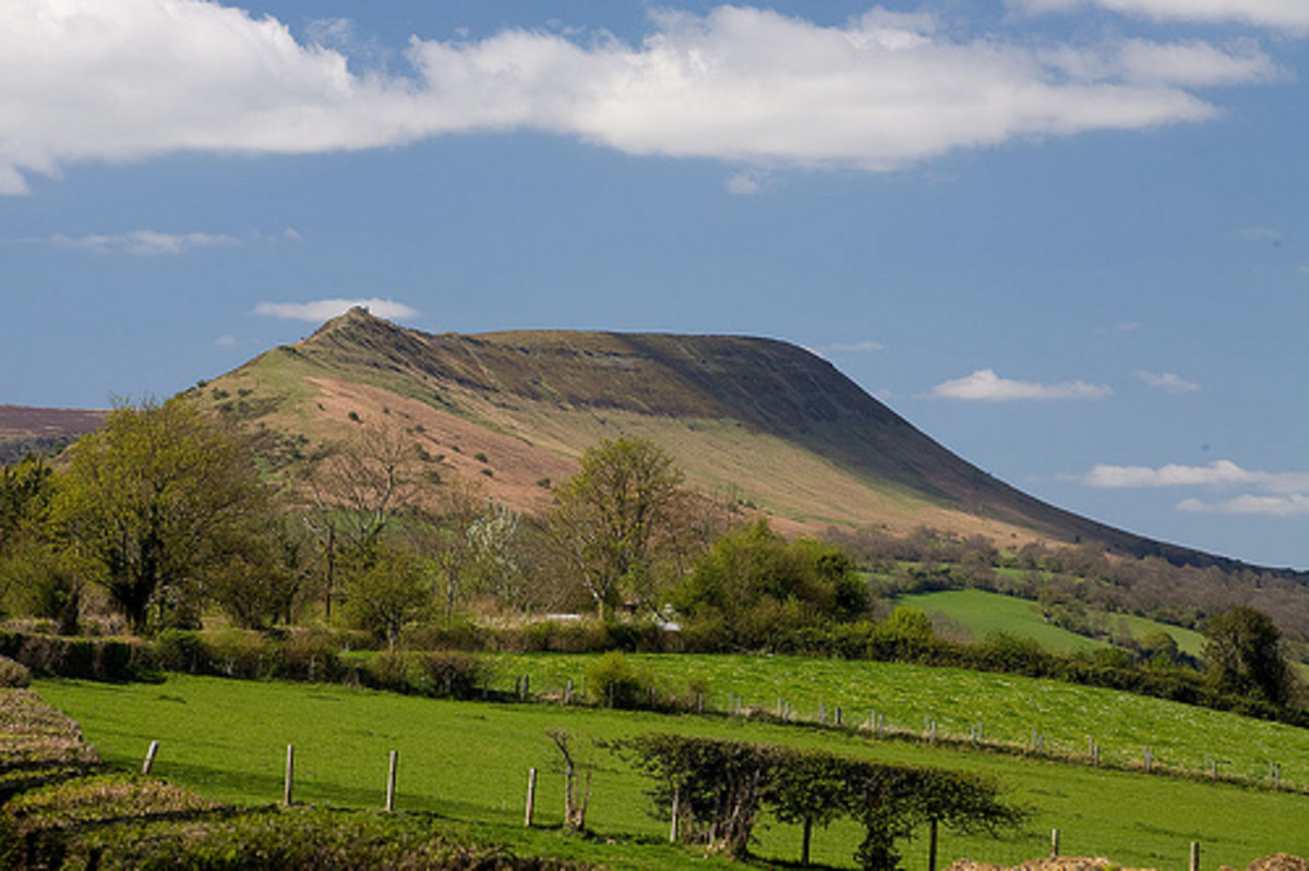 The Black Hill in Herefordshire, near Craswell, just at the border with Wales, is known as the Cat's Back because it looks like a cat waiting to pounce.