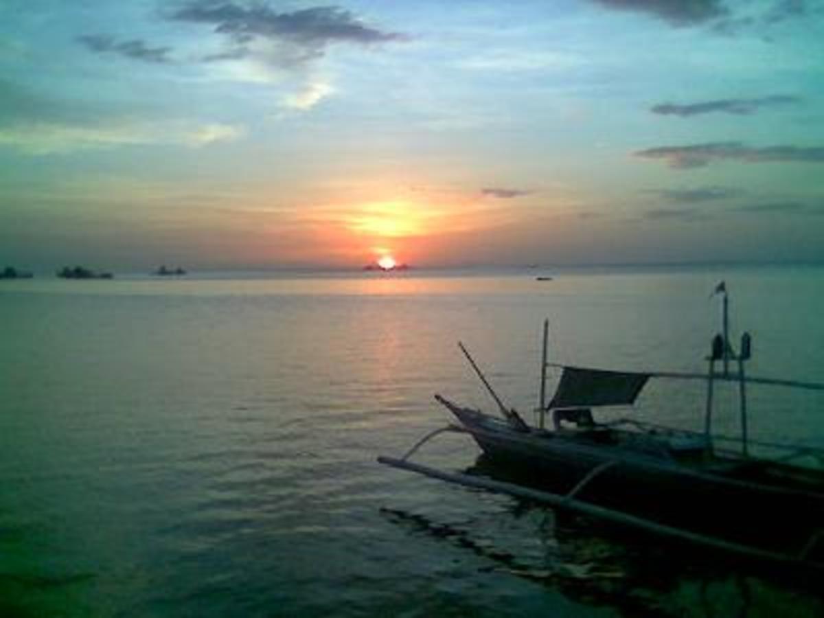 Coucher de soleil sur l'île de Bantayan