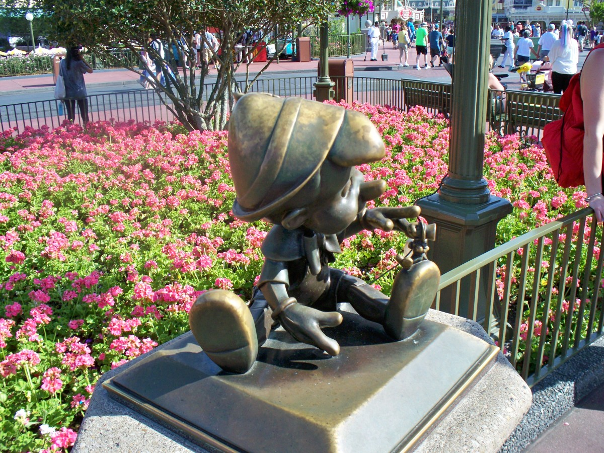 Pinocchio Statue at Disney's Magic Kingdom