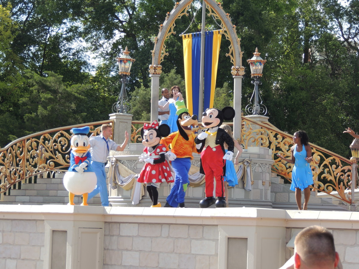 Show outside of Cinderella's Castle at Walt Disney's Magic Kingdom