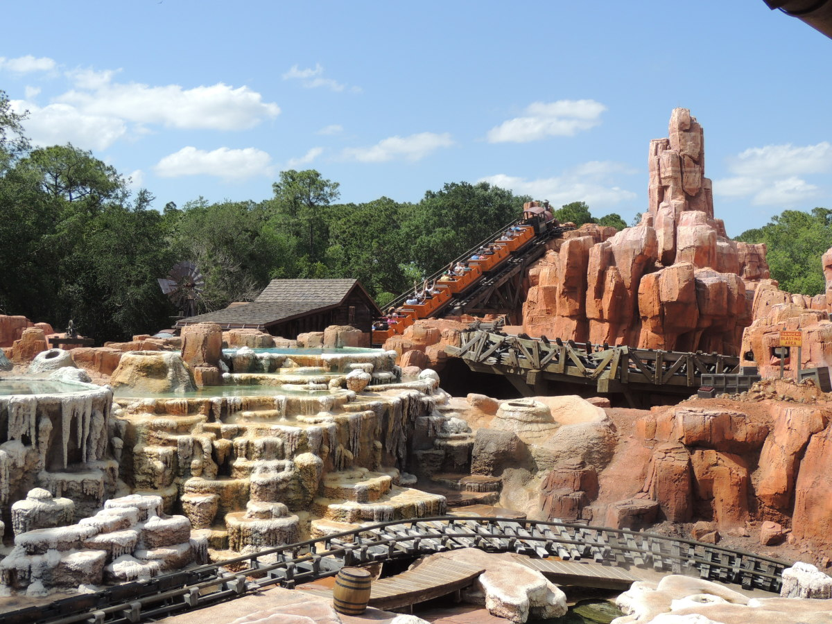 Big Thunder Mountain Railroad as seen from the Walt Disney World Railroad