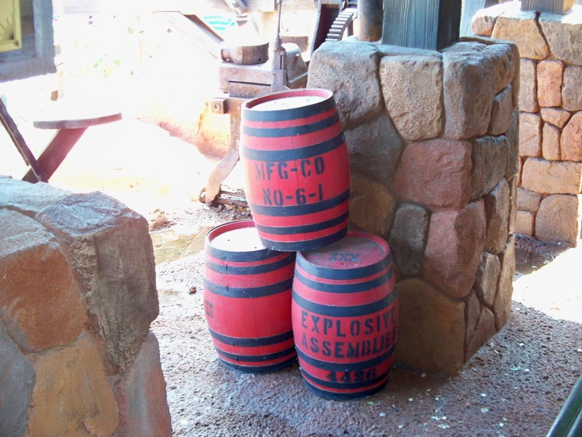 Big Thunder Mountain Railroad - TNT Barrels