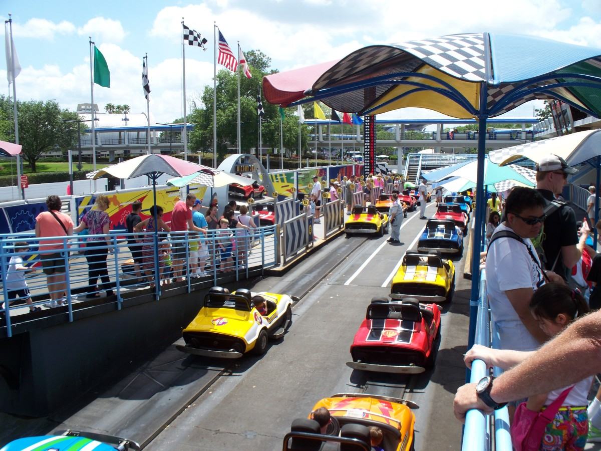 Tomorrowland Speedway at Disney's Magic Kingdom - Pit Road
