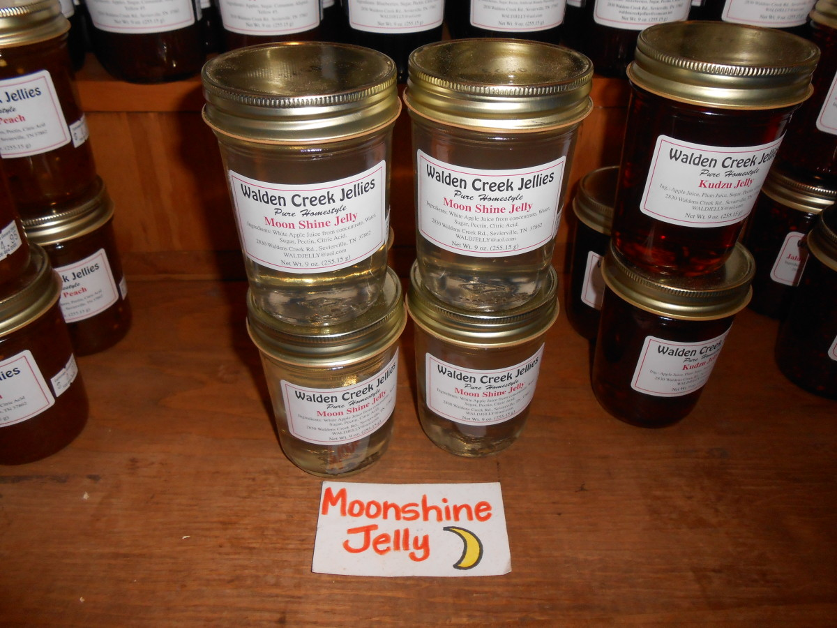 Moon Shine Jelly sold at the Dahlonega General Store
