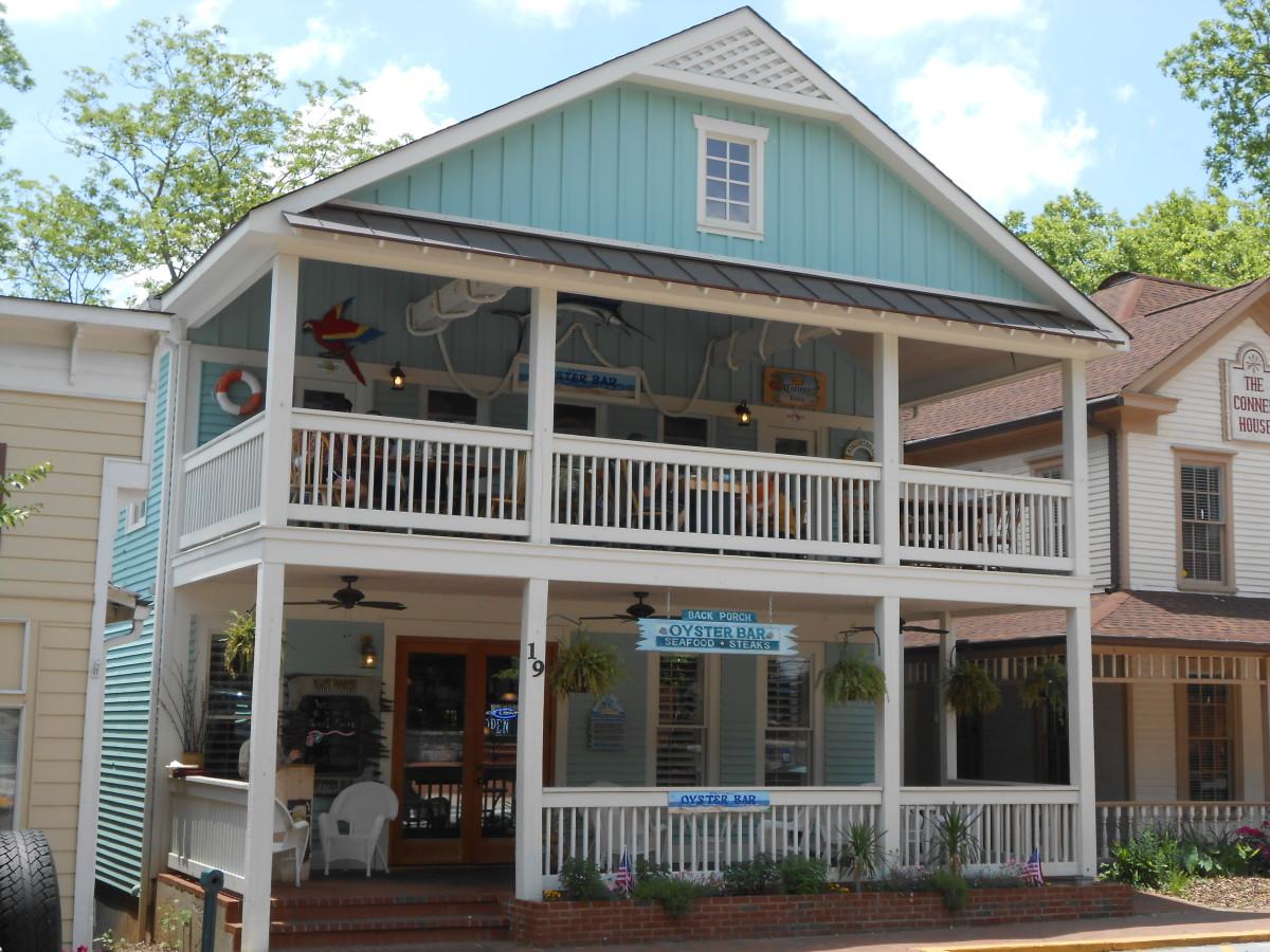 Back Porch Oyster Bar, Dahlonega, GA.