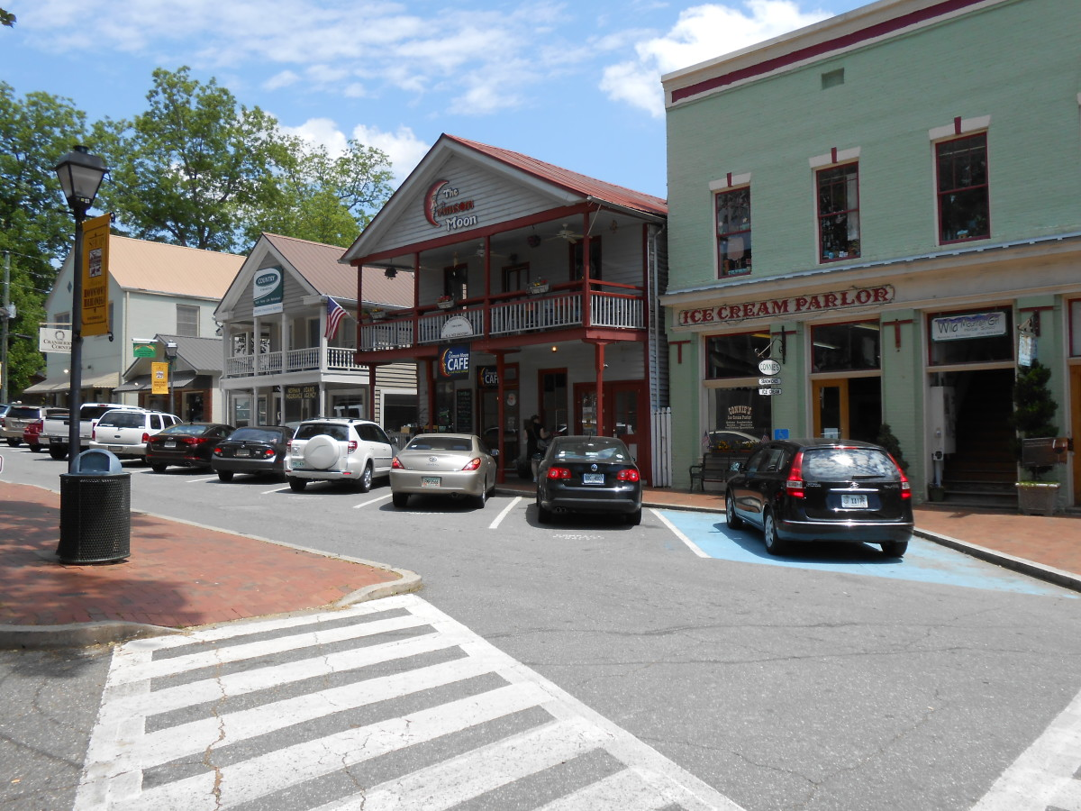 Shops along the square, Dahlonega, Georgia