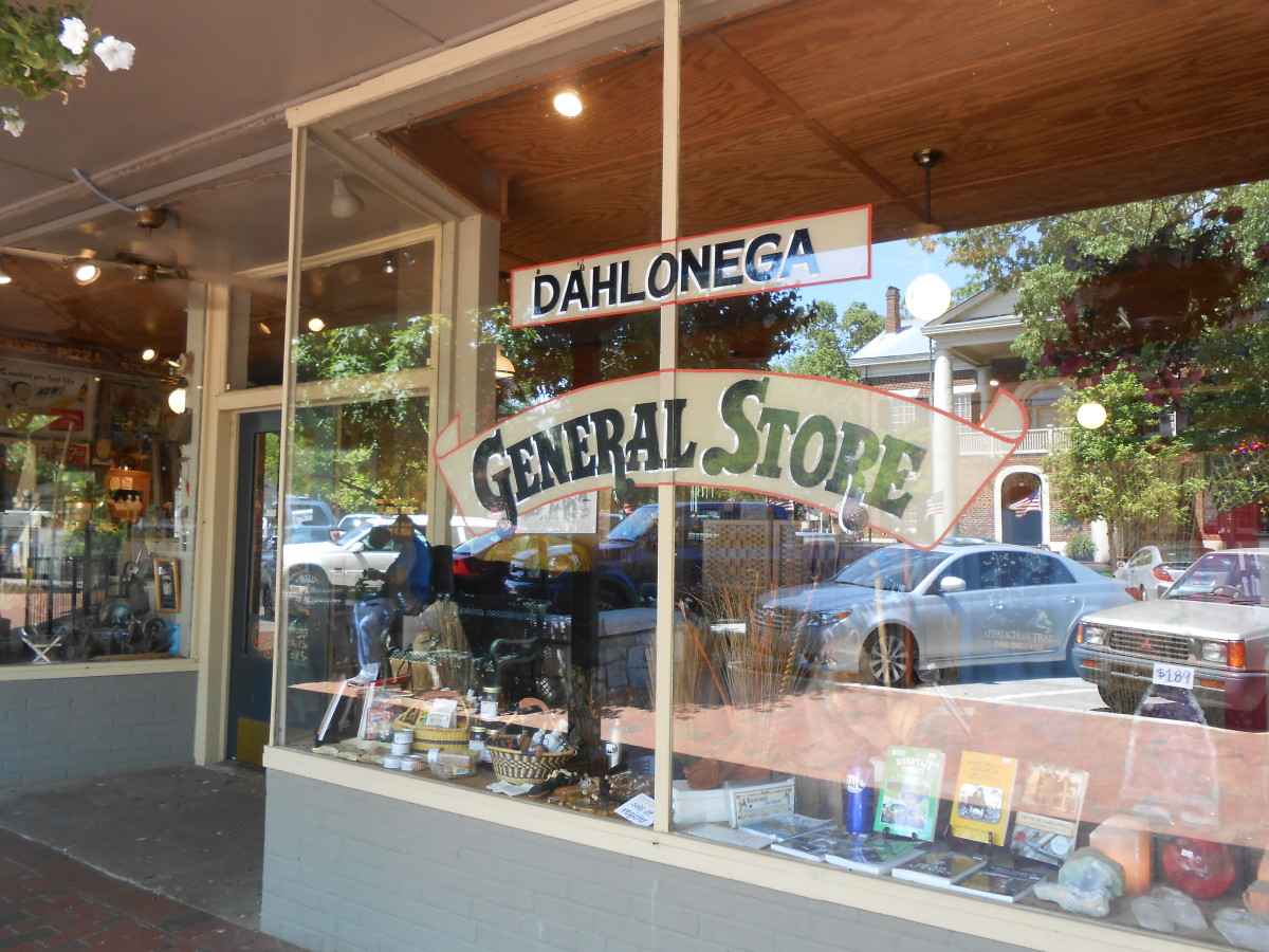 Outside the Dahlonega General Store, Dahlonega, GA.