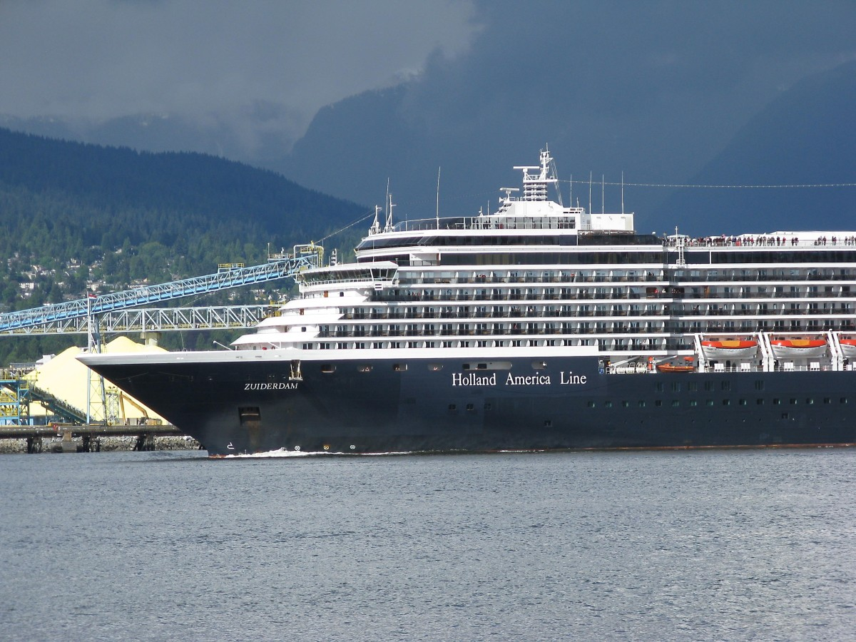 The Zuiderdam, a Holland America ship