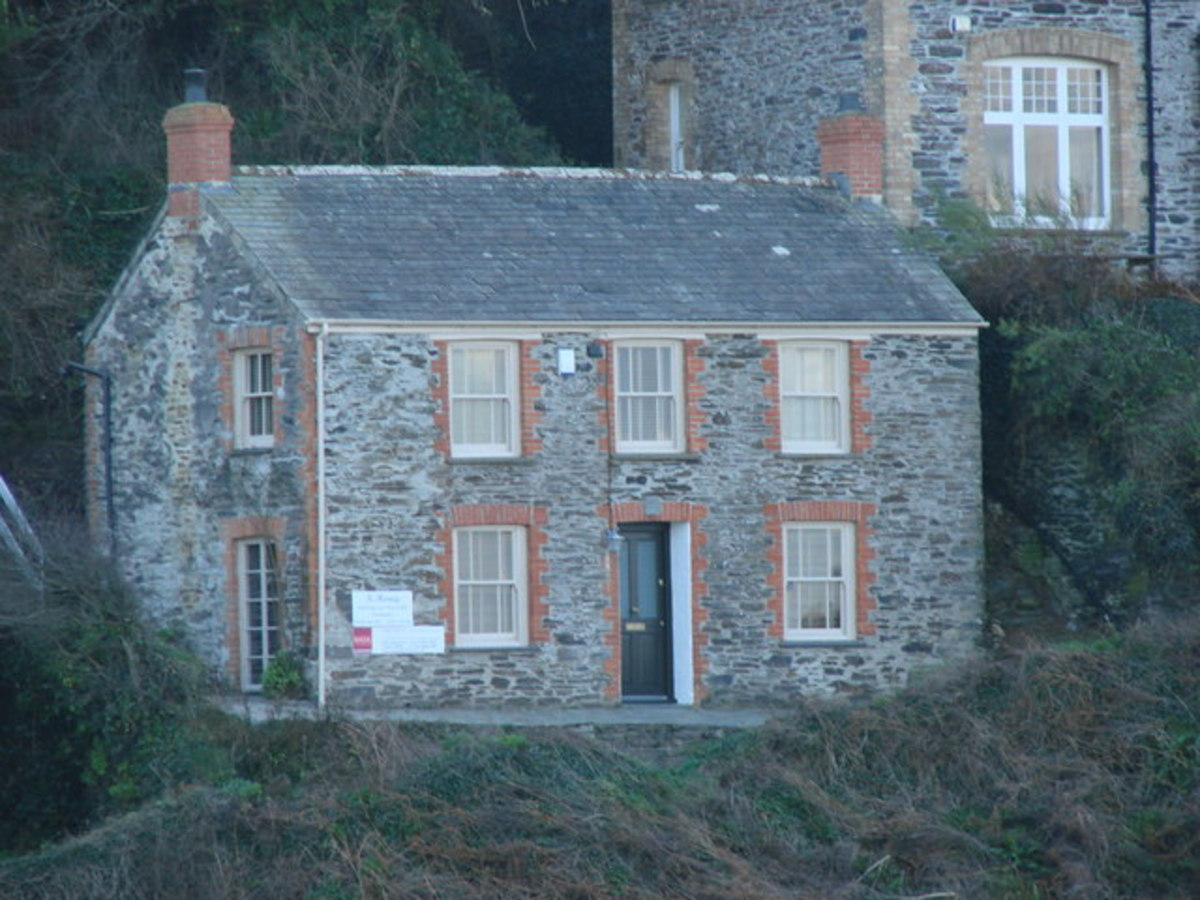 Fern Cottage, Roscarrock Hill, Port Isaac, Cornwall - Doc Martin's house in the TV series.