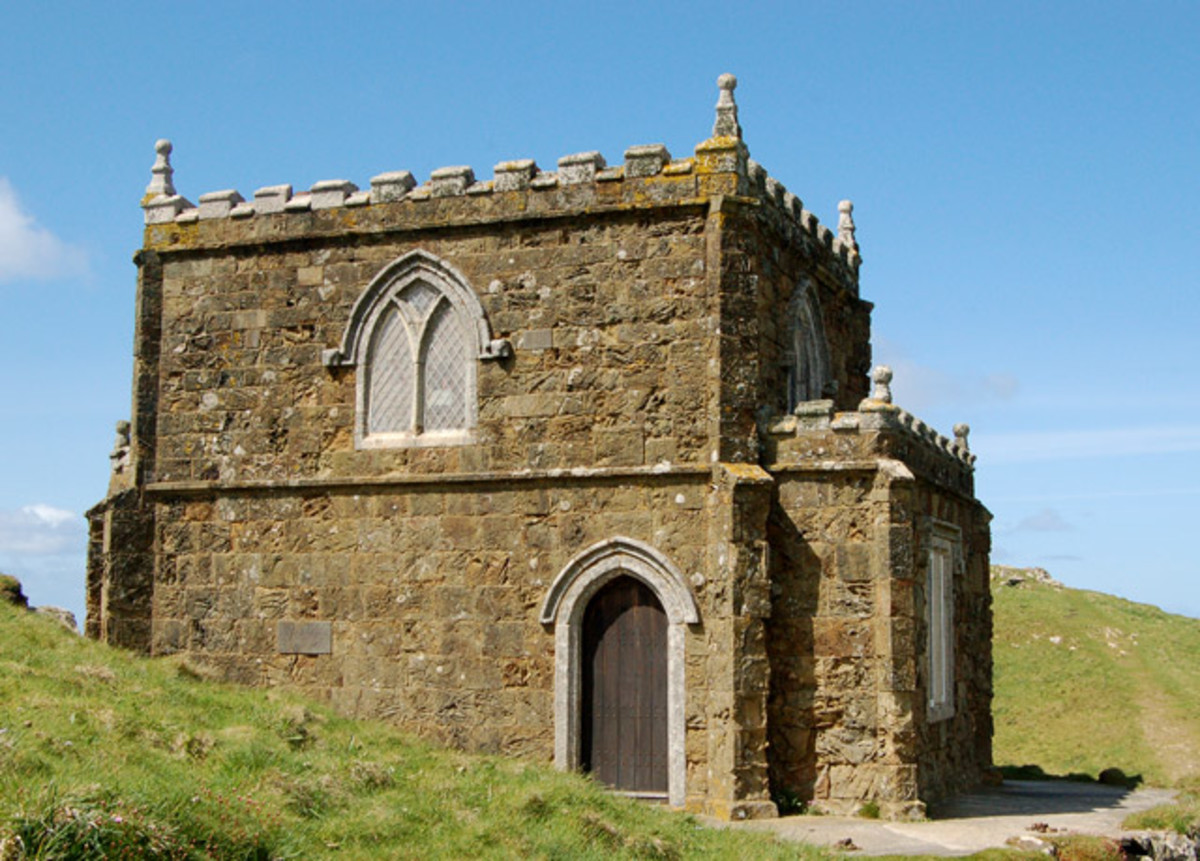 Pentire Castle in the Doc Martin TV Series, at Port Quin, near Port Isaac, Cornwall.