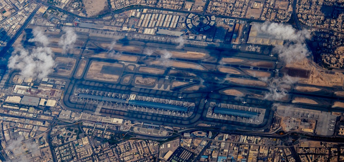 Aerial View of Dubai International Airport