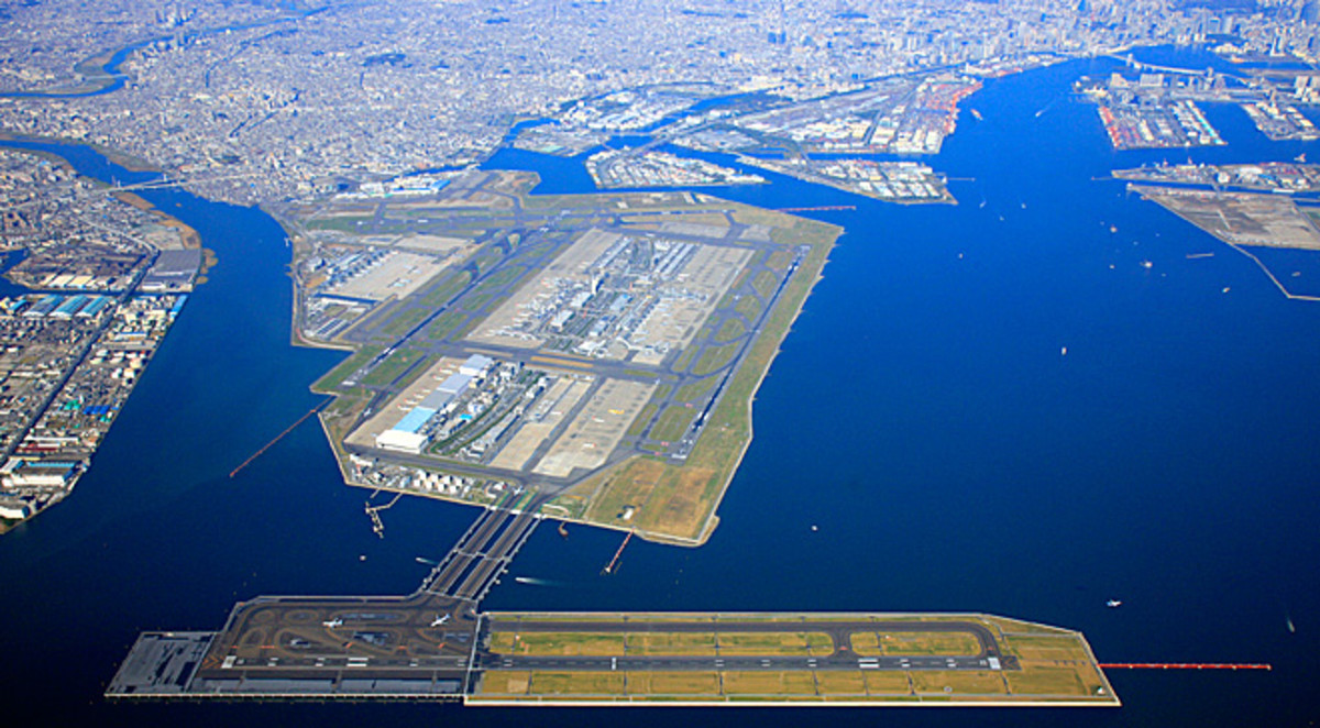 Aerial View of Tokyo International (Haneda) Airport
