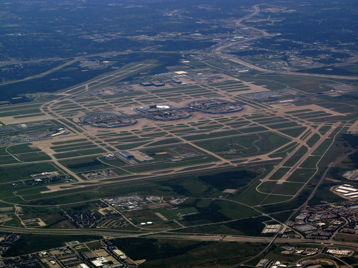 Aerial View of DFW International Airport