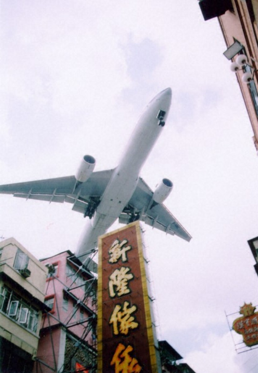 Flight Approach for Landing at the Former Kai Tak Airport