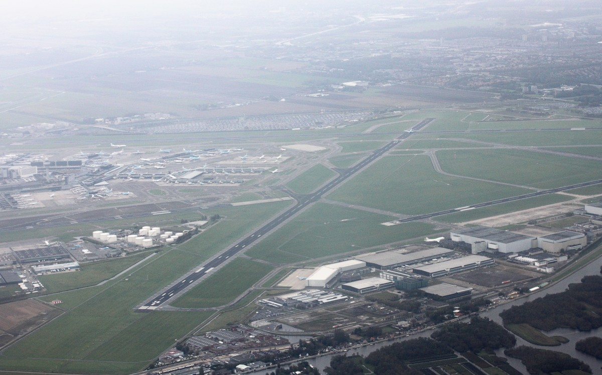 Aerial View of Amsterdam Schiphol Airport