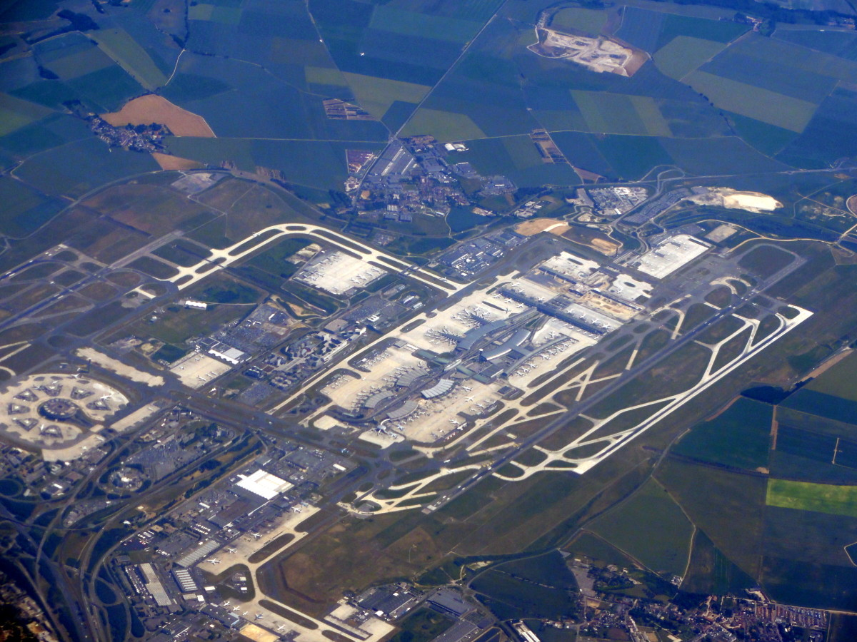Aerial View of Paris Charles de Gaulle Airport