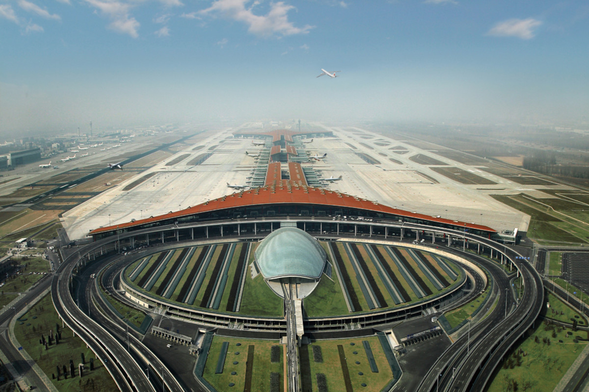 Aerial View of Beijing Capital International Airport