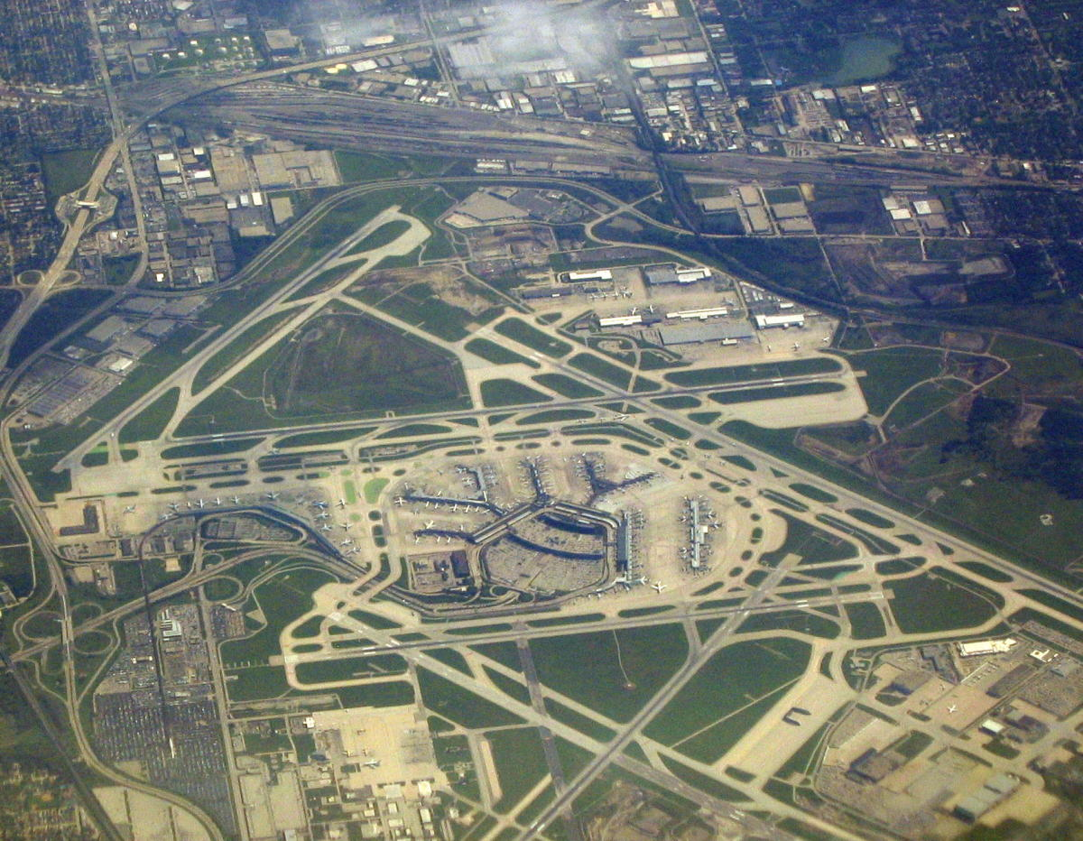 Aerial View of Chicago O'Hare Airport