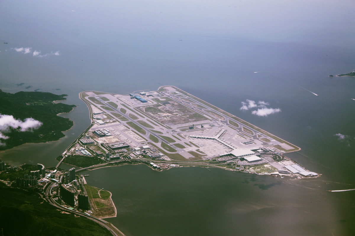Aerial View of Hong Kong International Airport (Chek Lap Kok)