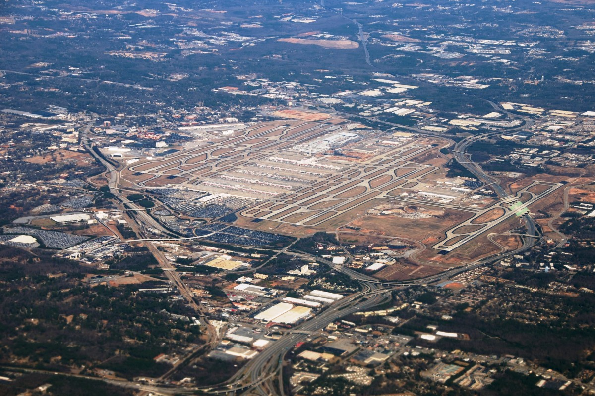 Aerial View of Hartsfield-Jackson Atlanta International Airport