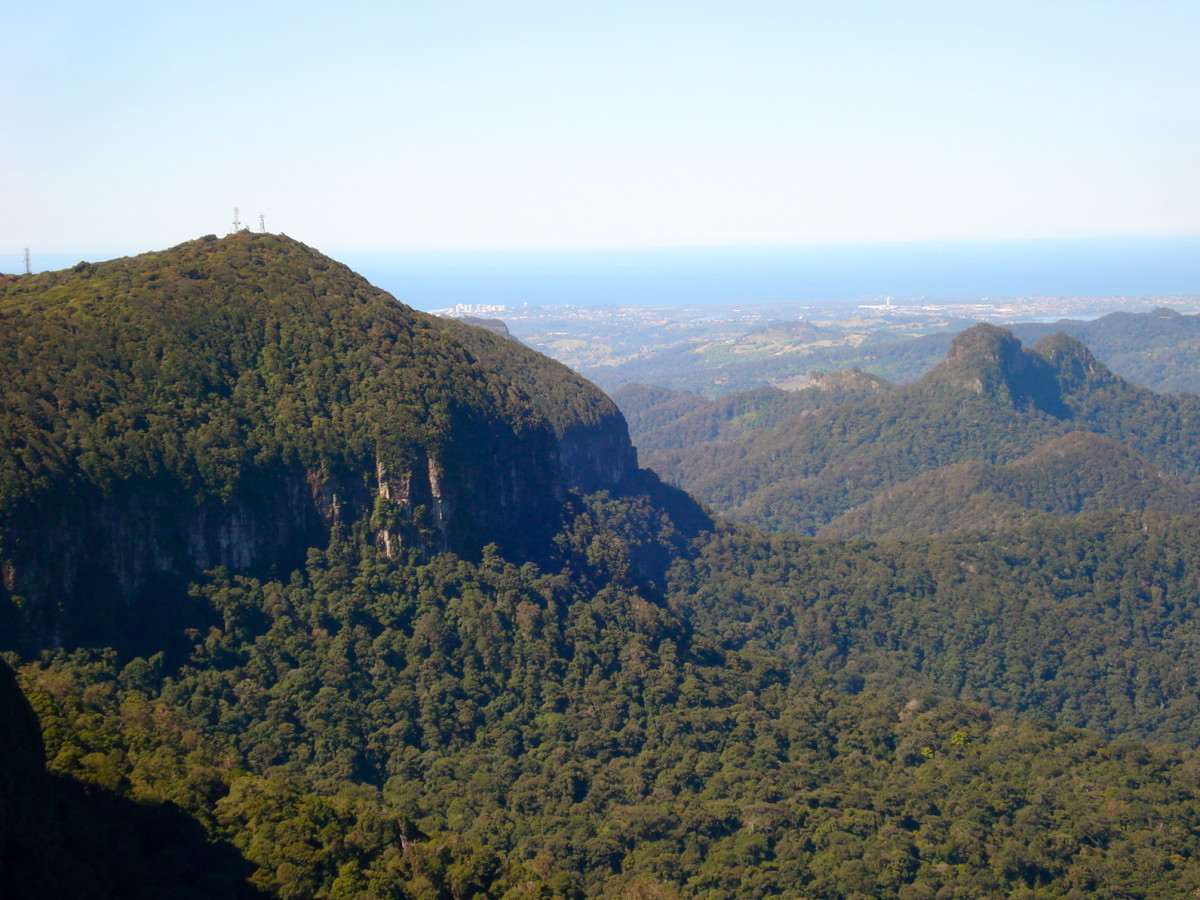 Gold Coast Hinterland: From Springbrook, Looking Towards the Pacific Ocean