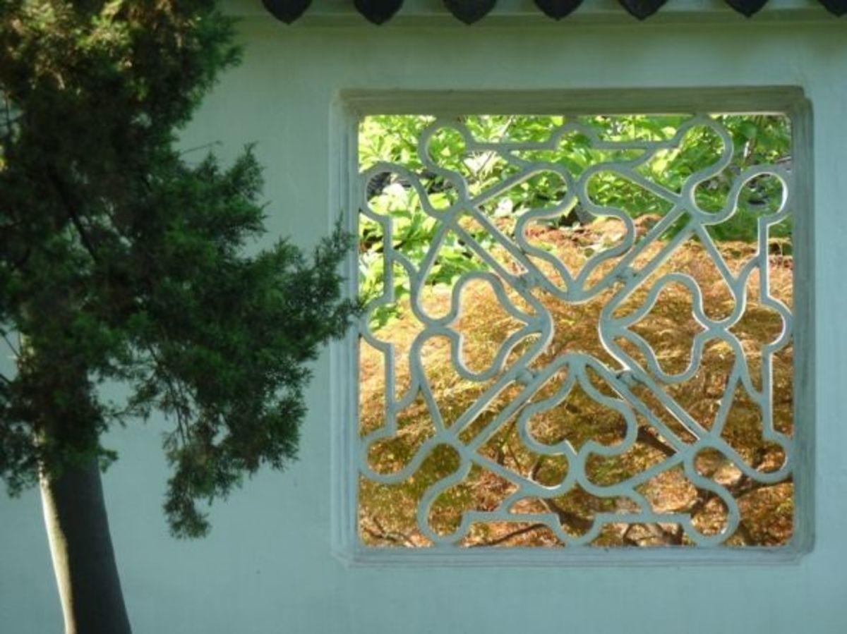suzhou garden window view