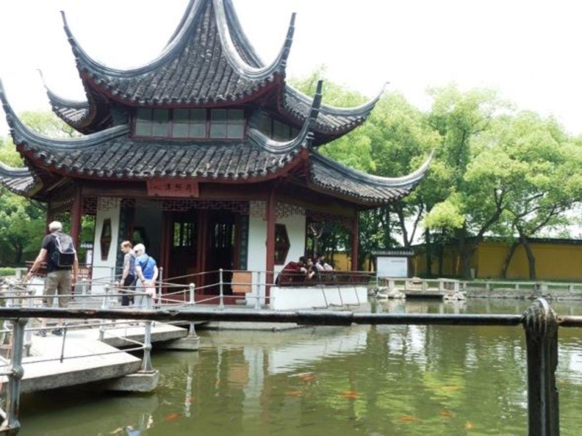 Garden at a Buddhist Temple - Western Garden in Suzhou China