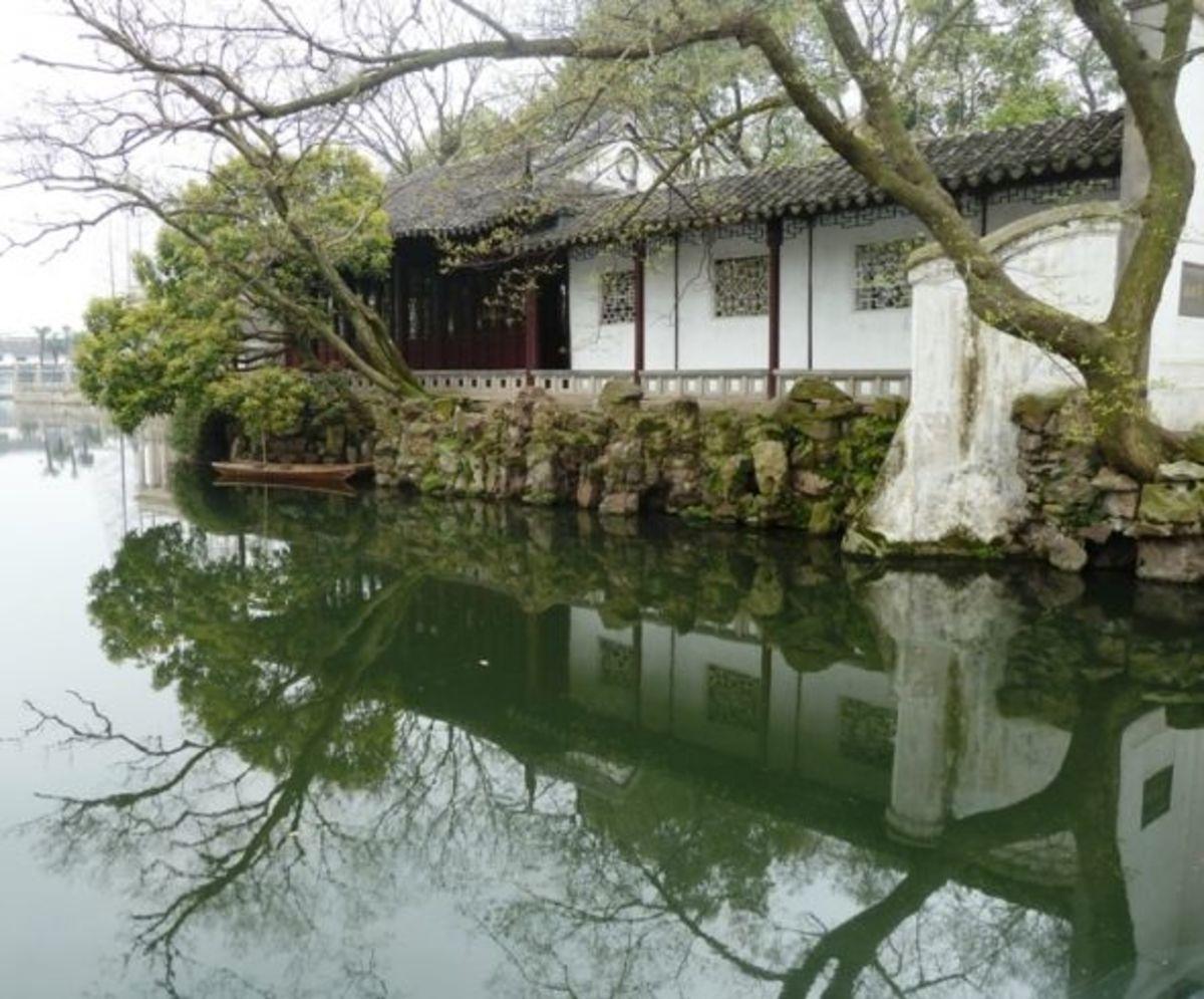 suzhou surging waves pavilion garden