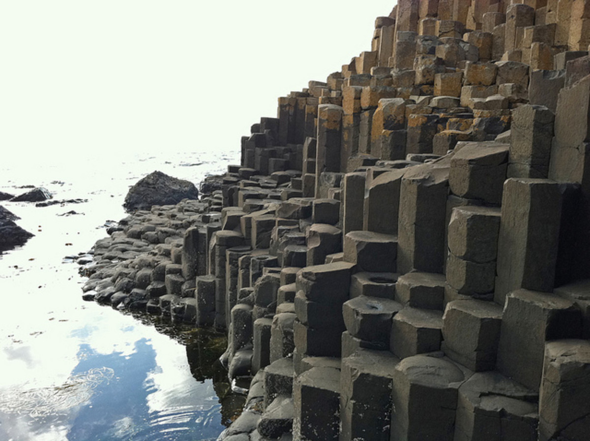 Giant's Causeway almost looks man-made.