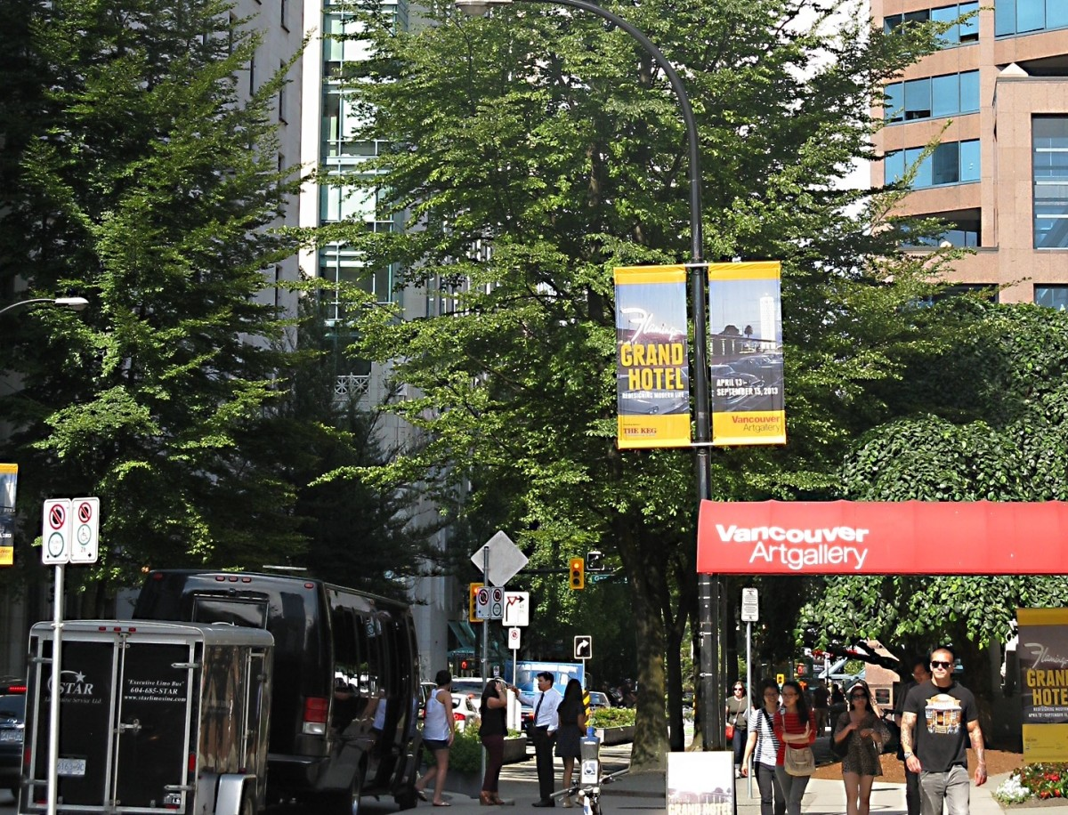 The entrance to the Vancouver Art Gallery