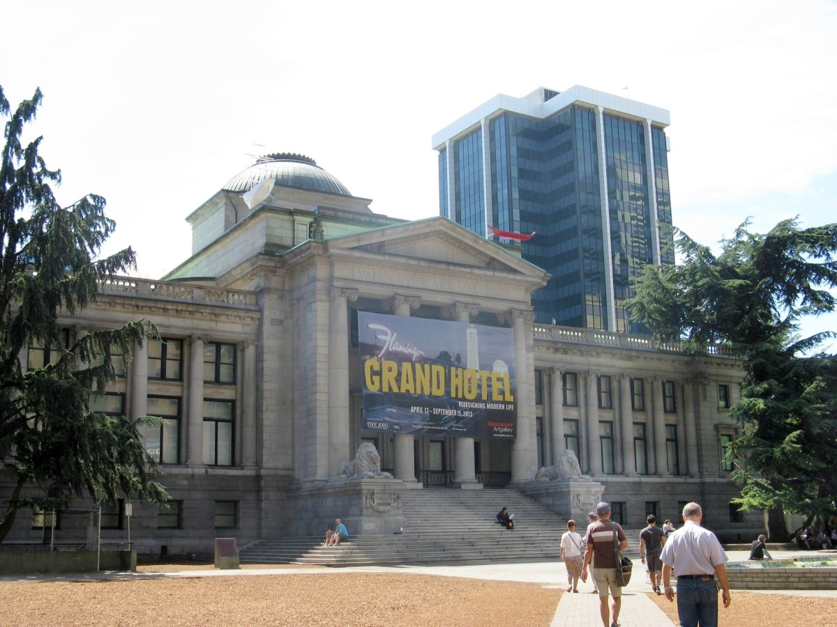 The front of the Vancouver Art Gallery