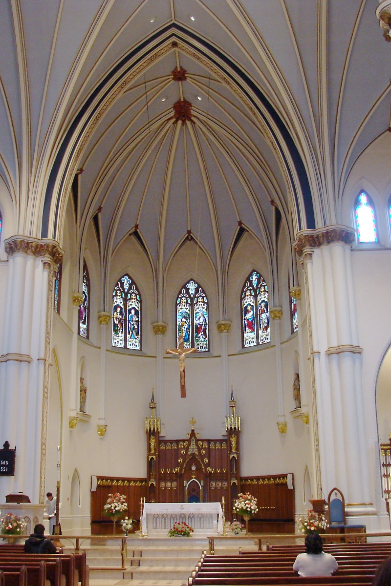 The altar and sanctuary