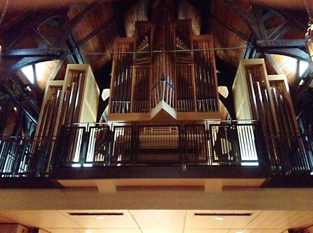 The organ in Christ Church Cathedral