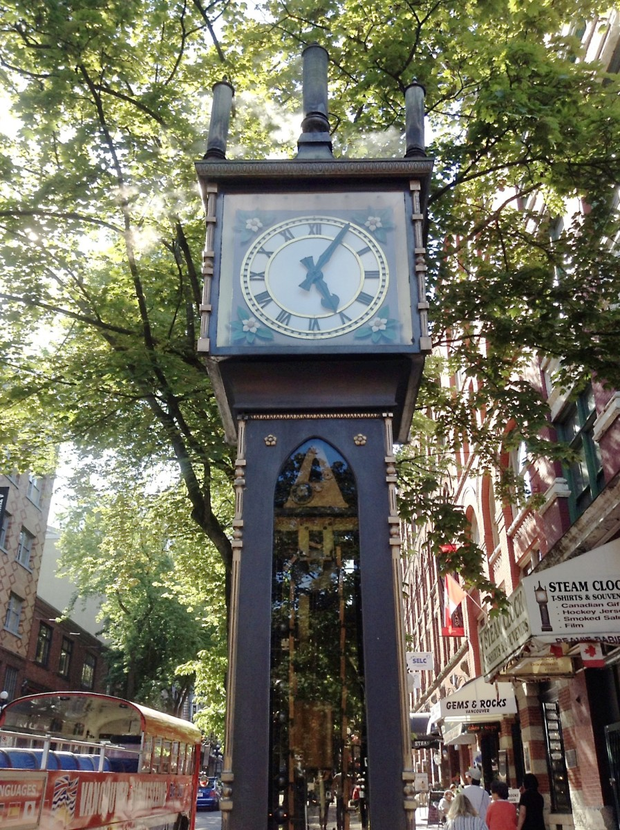 The steam-powered clock in Gastown