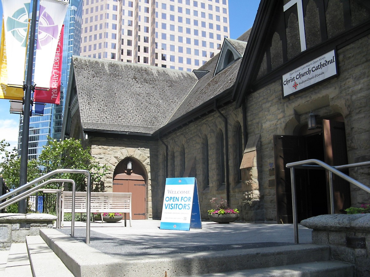 The main entrance to Christ Church Cathedral